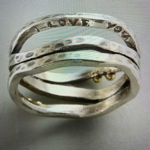 🆕❤️ SUNDANCE sterling silver with gold love ring